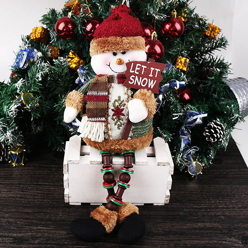 christmas doll decor santa claus snowman reindeer christmas tree decor ornaments xmas home door decoration