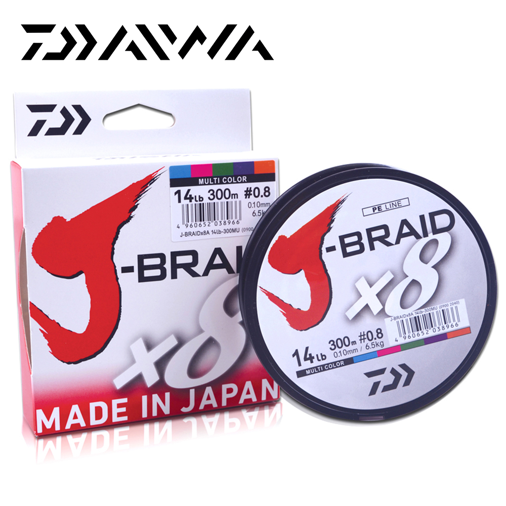 Daiwa Original 8 Braided Fishing Line Length 150M 300M 10-60lb PE Line Fishing Tackle Braided Line Made In Japan Pesca