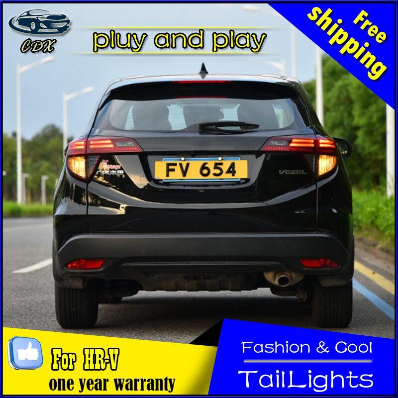 Car Styling Tail Lamp for Honda HRV LED Tail Light 2013-2016 Vezel Tail Light Rear Lamp DRL+Brake+Park Stop Lamp