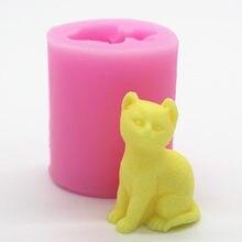 1 peça c343 gato cerâmica molde silicone bolo molde ferramentas de cozinha