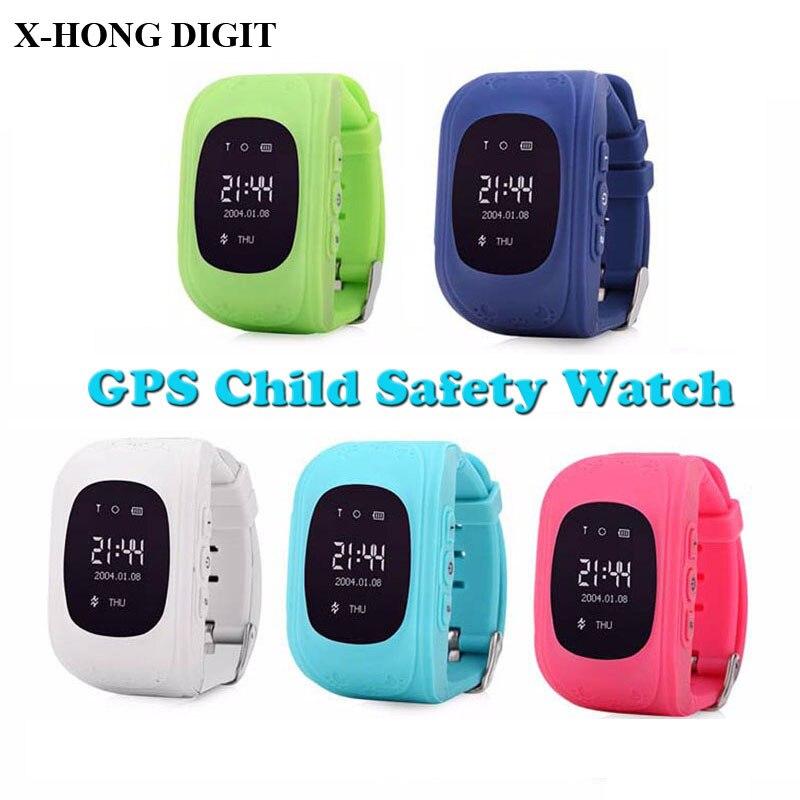 imágenes para Los niños kid anti-perdida smart watch gsm gprs gps reloj localizador niño guardia para ios android reloj q50 gsm marca