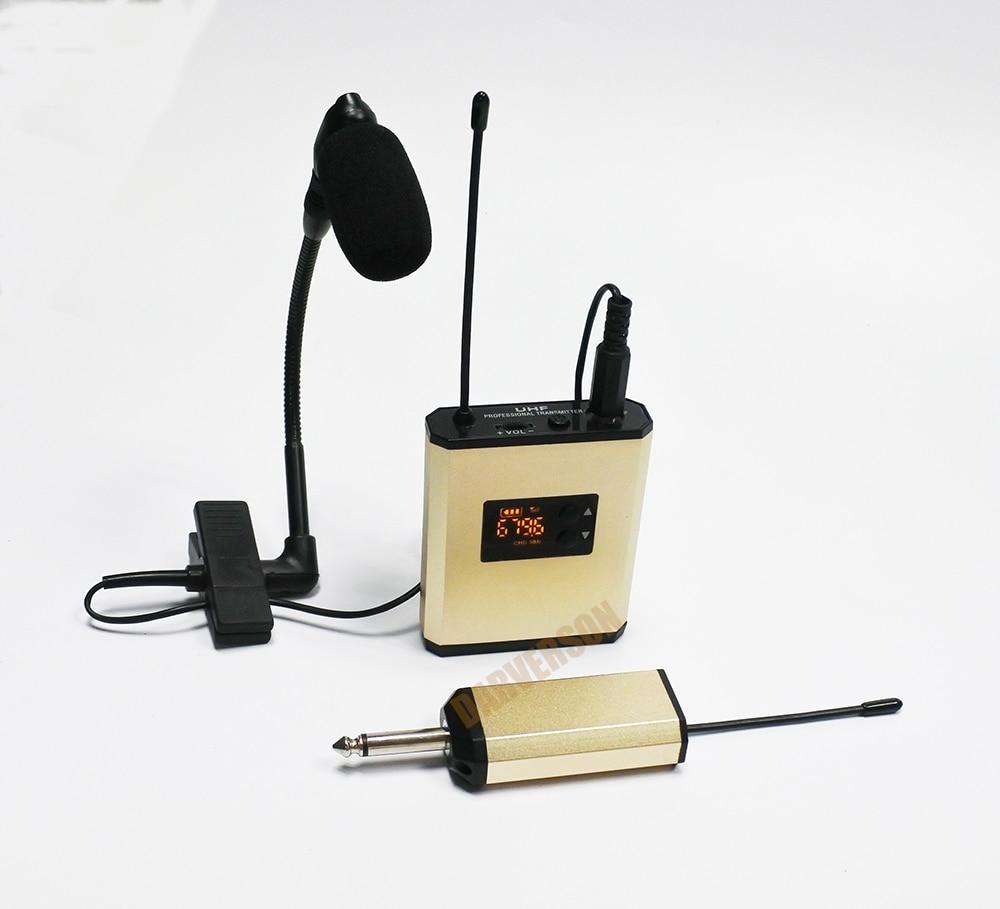 beta98HC gooseneck clip mic UHF transmitter + receiver saxophone trumpet recharage instrument wireless microphone system стоимость