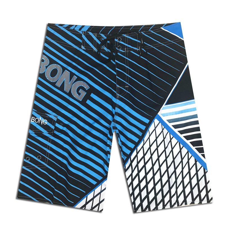 2019 New Summer Quick Dry Beach Shorts Mens Polyester Surfing Board Shorts Striped Water Sportswear Swimming Shorts Brand Billa in Surfing Beach Shorts from Sports Entertainment