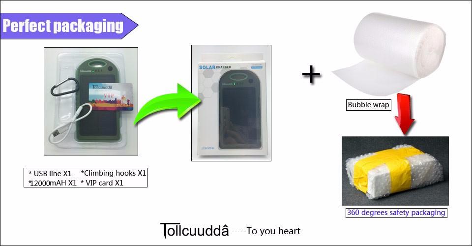 Tollcuudda Solar Panel Power Bank 100mAH Battery External Celular Charger Cargador For Xiao Mi universal Phone Solar PoverBank 31