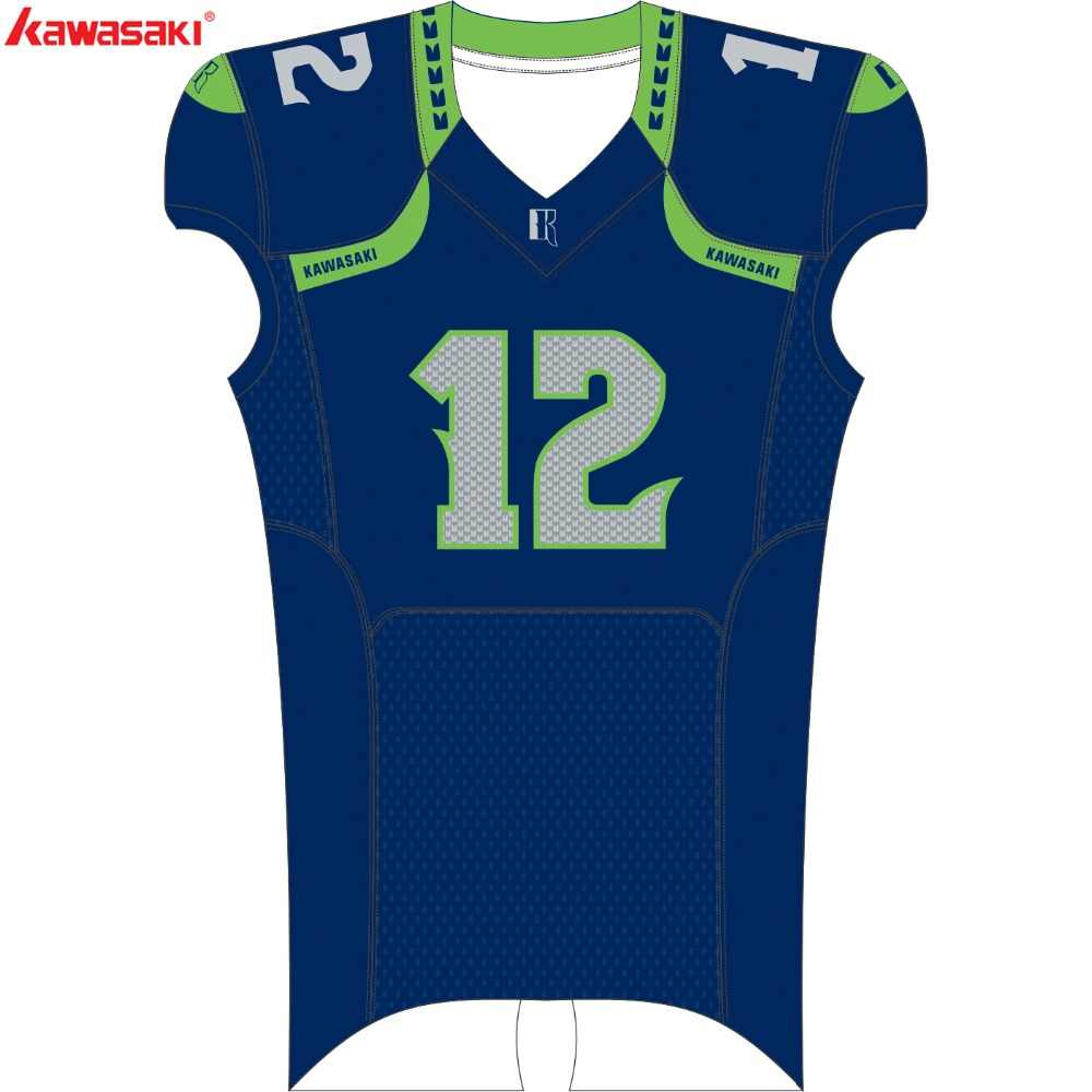 93caa26f699 Kawasaki Brand Bola De Futebol Americano Jersey Sublimation American  Football Top Jerseys Breathable Train Shirt And