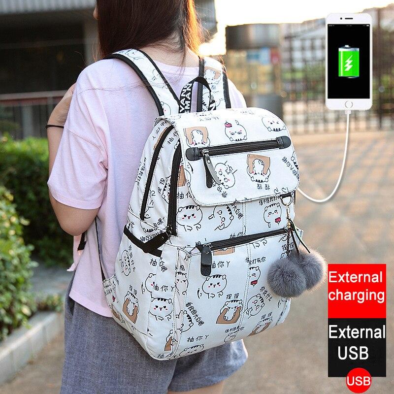 2019 New Women Emoji Shoulder Bag Best Travel Women Backpack Female Printing Waterproof School Knapsack Mochila Bagpack Pack #6