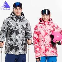 VECTOR Professional Skiing Jackets Waterproof Warm Winter Outdoor Snow Sportwear Women Men Snowboarding Ski Jacket Brand