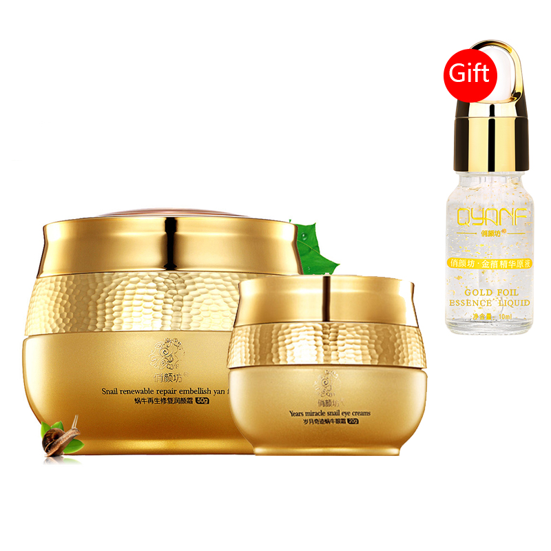 Buy 2 Get 1 Gift Snail Essence Original Liquid Eye Cream Whitening Moisturizing Removing Acne Freckle Anti-aging Face Care Set