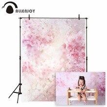 Allenjoy fleur rose toile de fond pour studio photographique printemps aquarelle pétale saint valentin enfant fond photocall photophone
