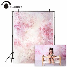 Allenjoy pink flower backdrop for photographic studio spring watercolor petal Valentines Day kid background photocall photophone