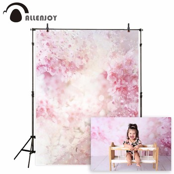 Allenjoy pink flower backdrop for photographic studio spring watercolor petal Valentines Day kid background photocall photophone allenjoy photography backdrop spring grass white flower bokeh green background photocall photographic photo studio