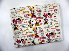 Lovely Painting Minnie Mouse Thicken Cotton Canvas Curtain