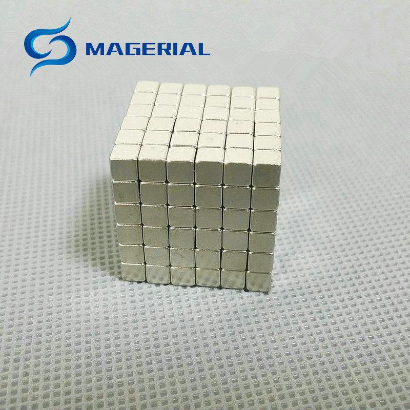 1 set/216 pcs N42 Block 3x3x3 4x4x4 5x5x5 mm NdFeB Magnet Cube Magic Toy Neodymium Magnets Rare Earth Magnets Permanent dayan 5 zhanchi 3x3x3 brain teaser magic iq cube