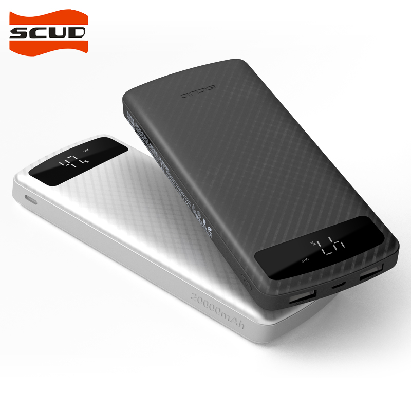 SCUD 20000mAh Universal Power Bank external battery 2 USB portable charger Powerbank with Type c Micro