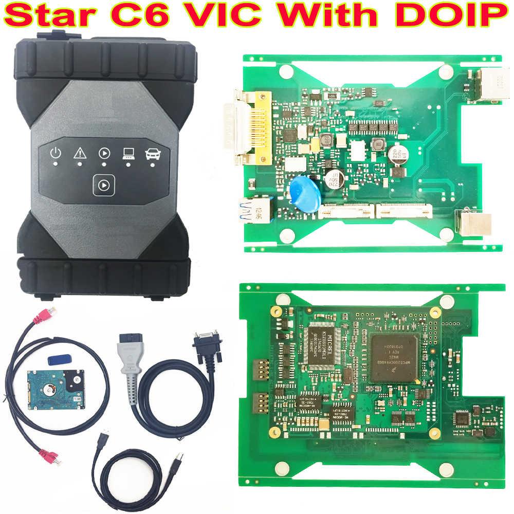 Mejor multiplexor VCI de diagnóstico Real MB Star C6 con protocolo CAN/DOIP con 2019,12 Software HDD C6 actualización MB star C4/C5 C3