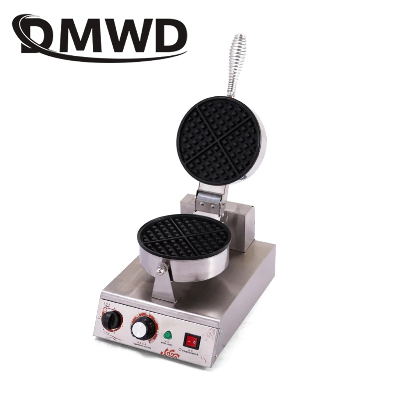 DMWD Stainless Steel Electric Eggs cake Iron oven QQ Waffle Maker Muffin lattice baking machine Breakfast grill 1200W EU US plug цены
