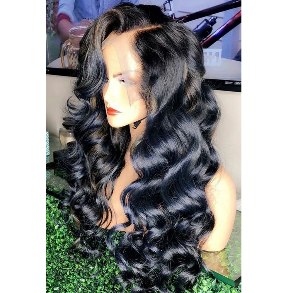 Lace Front Human Hair Wig 250 Density Lace Front Wig Preplucked Lace Natural Hairline Bleached Knots 13x6 Deep Part Wig Remy