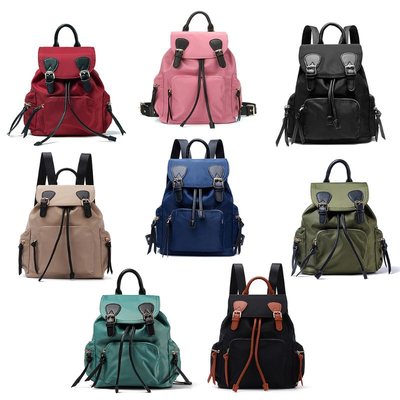 ce51a869ff Women Nylon Small Backpack Travel Schoolbag Casual Daypack School ...
