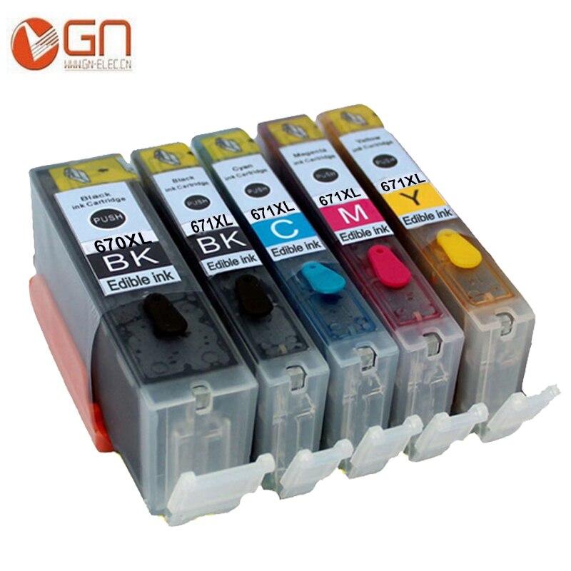 GN 5 шт. PGI 670 CLI 671 PGI670 CLI671 картридж со съедобными чернилами для canon Pixma MG6860 MG5760 MG6865 MG5765 TS6060 TS5060 принтер