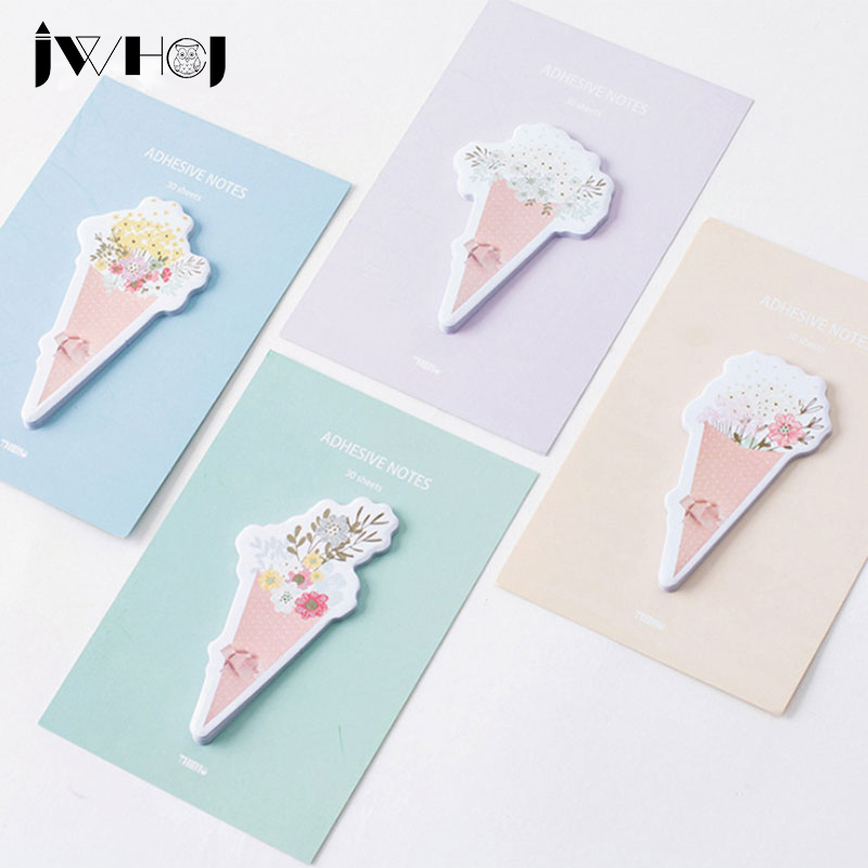 4 pcs/lot Creative Bouquet of flowers memo pad paper sticky notes post notepad stationery papeleria school supplies