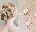 Festa de casamento romântico flor artesanal pérola pino de cabelo vara do cabelo acessórios de cabelo noiva cabelo jóias