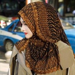 Foulard hijab en soie de luxe pour femmes musulmanes