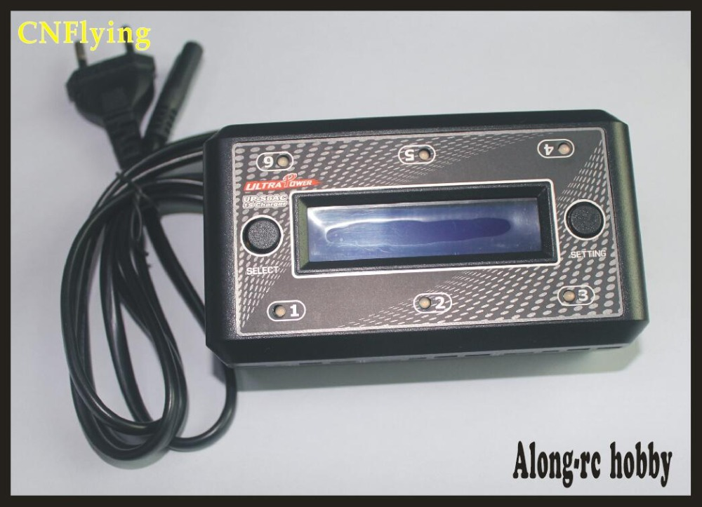 FREE SHIPPING Ultra Power UP-S6AC INPUT AC110-240V RC Balance Battery Charger 6x1 cell 1s lipo lihv battery charger