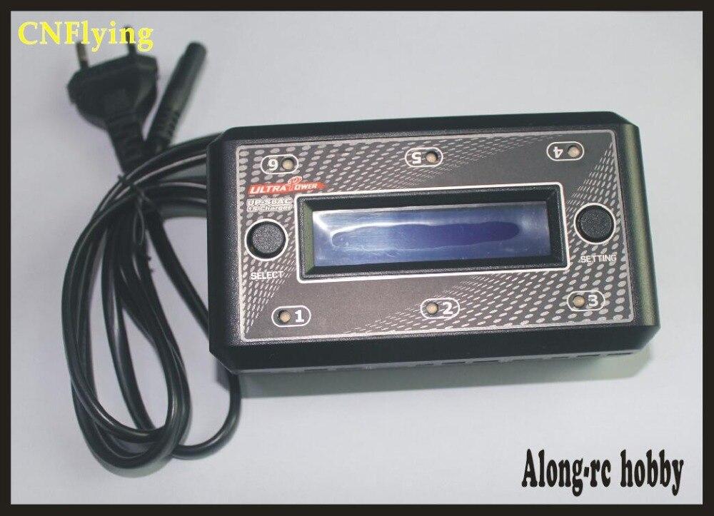 Livraison gratuite Ultra puissance UP-S6AC entrée AC110-240V RC Balance chargeur de batterie 6x1 cellule 1 s lipo lihv chargeur de batterie