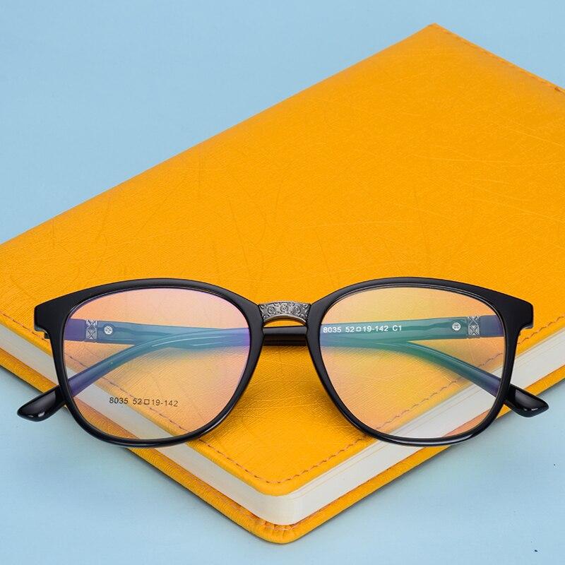 c113eeceb Tr90 نظارات إطار مربع الأزياء نمط الرجعية بصري واضح كاملة تأطير الرجال  النظارات إطارات 8035