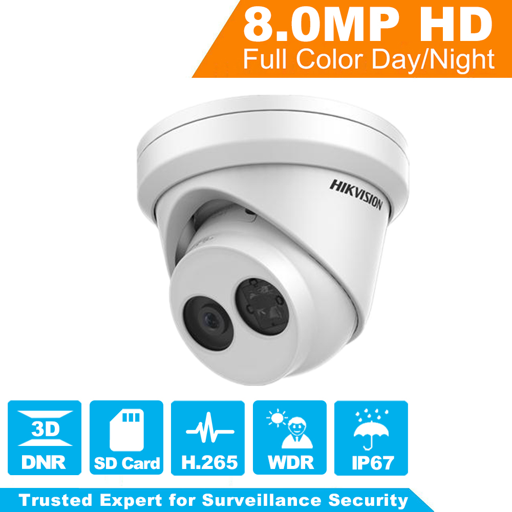 HIKVISION CCTV Camera 8MP Network Turret Security Camera DS-2CD2385FWD-I Original English Version HD IP Camera built-in SD card