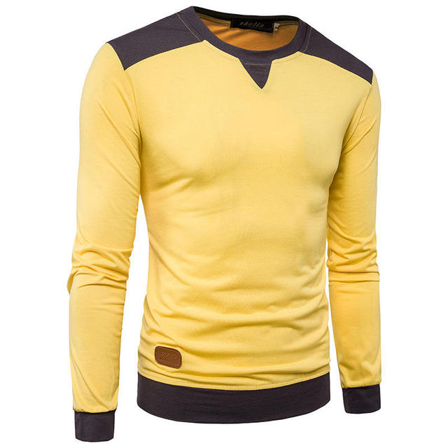 2018 New Fashion Men T Shirts Trend Mens Stylish Hit Color Shoulder