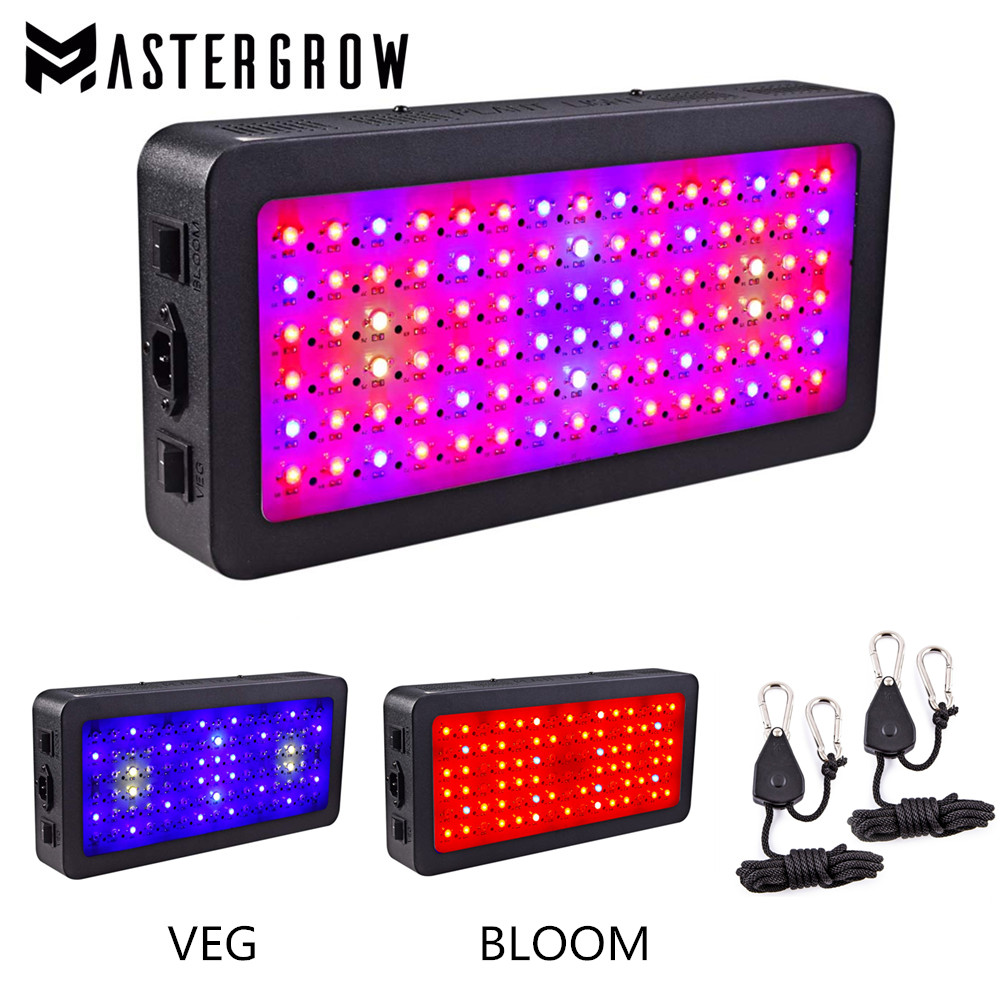 US $117 9 41% OFF|MasterGrow Double Switch LED grow light TS 600W 900W Full  Spectrum with Veg and Bloom modes for Indoor Greenhouse grow tent-in LED