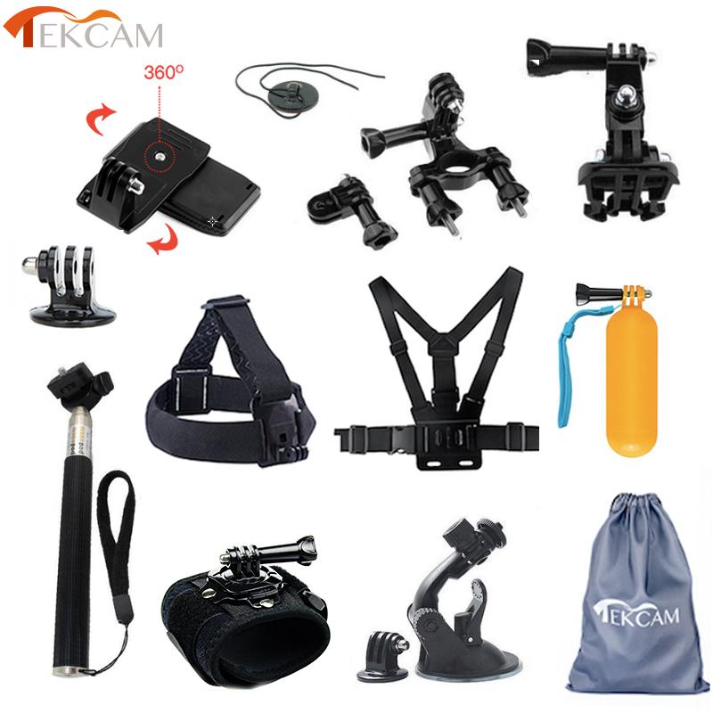 Tekcam for Go pro Accessories Mount Holder for Goprro Hero 5 6 4 SJCAM SJ6 SJ7 Xiaomi YI 4K mijia discovery Eken h9/h9r H6S цена