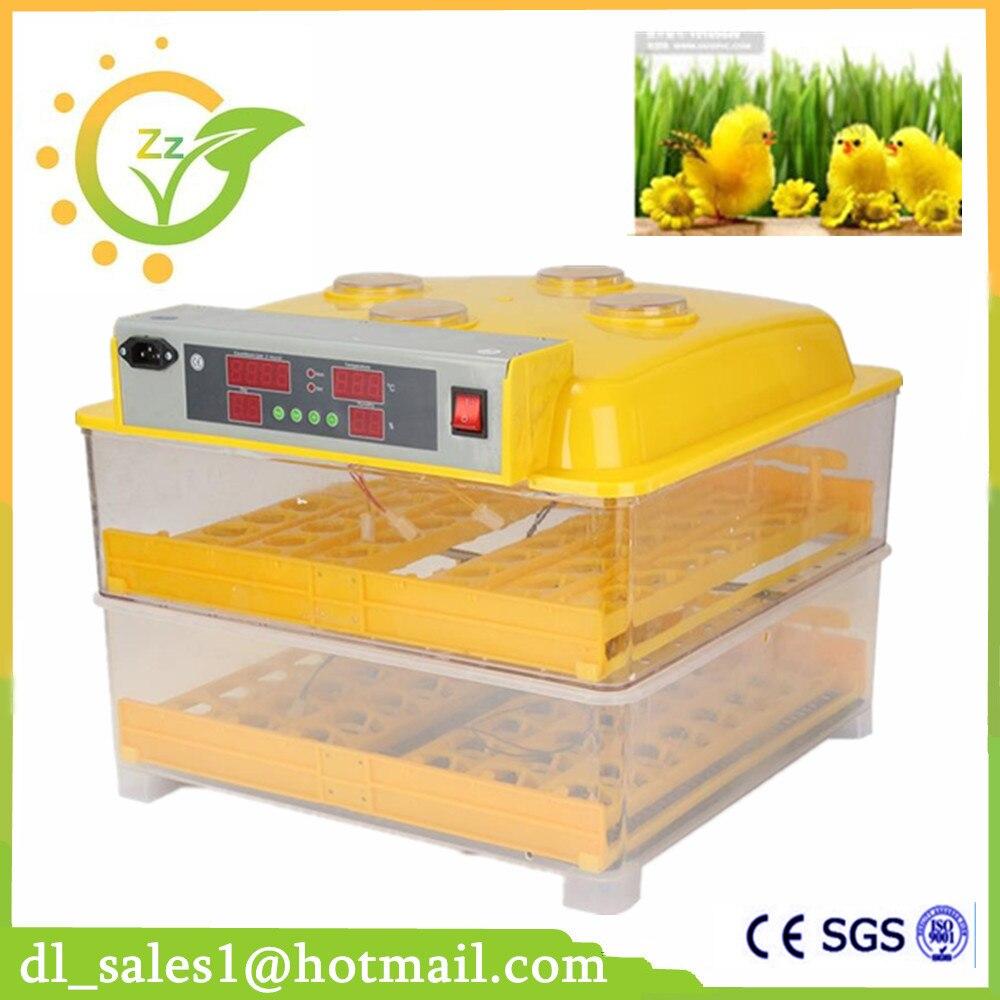 Пластиковый 96 цифровой инкубатор для куриных яиц контроль температуры автоматический инкубатор токарный инкубатор инкубация