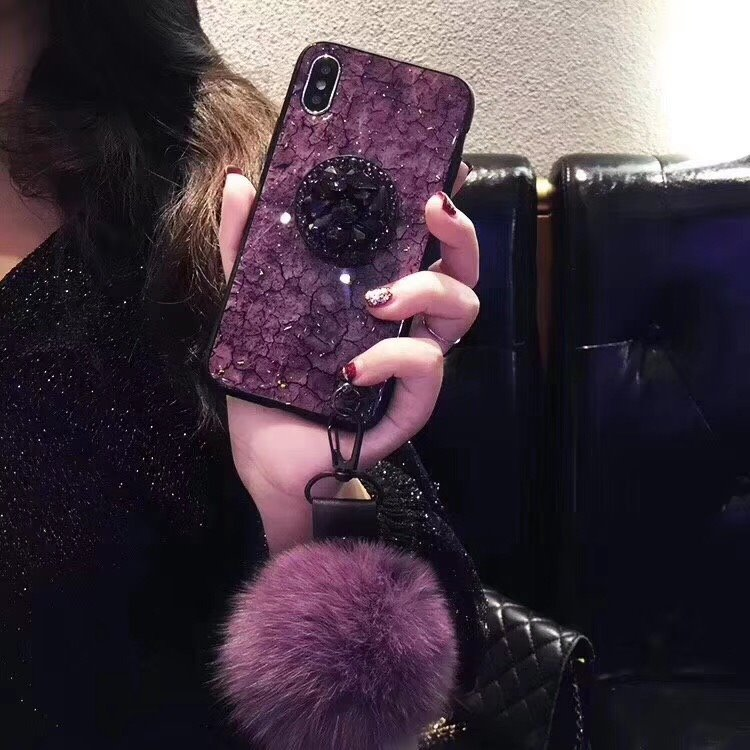 HTB1Cwwpao rK1Rjy0Fcq6zEvVXaj Luxury Diamond Marble Glitter Phone Cases for iPhone X XR XS MAX 7 8 6s Plus holder Ring Silicon Cover For iPhone XR XS