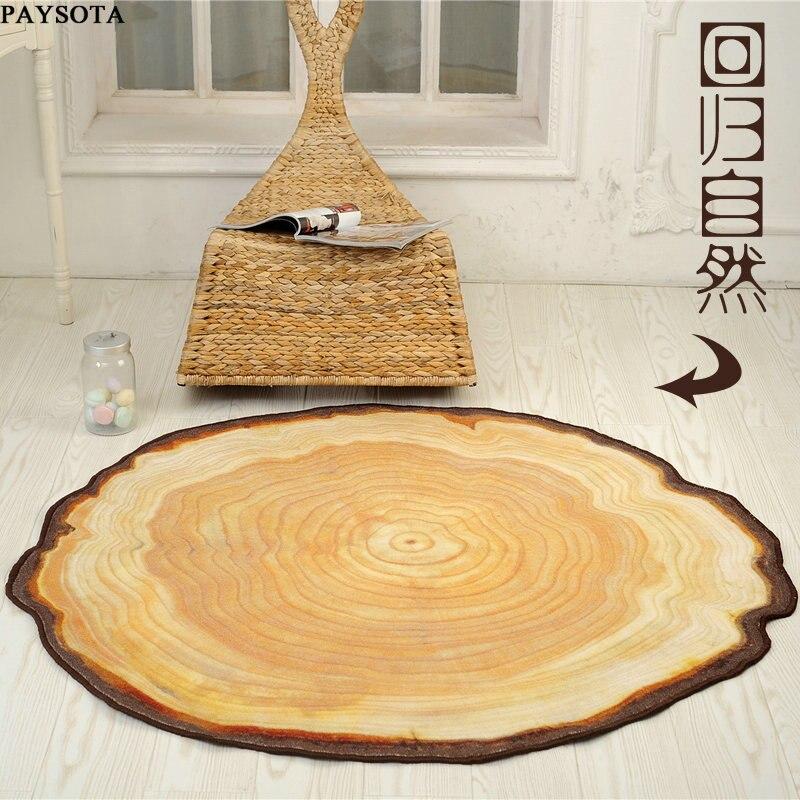 PAYSOTA tapis de chambre moderne tapis de chaise créatif antidérapant circulaire