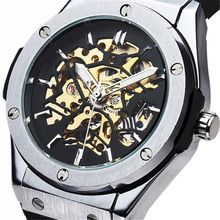 SEWOR Brand Man Male Fashion Classic Clock Sport Military Stylish Rubber Strap Casual Business Automatic Mechanical Wrist Watch