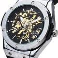 SEWOR Marca Man Masculino Clássico Da Moda Relógio Do Esporte Pulseira de Borracha Militar Elegante Business Casual Automatic Relógio de Pulso Mecânico