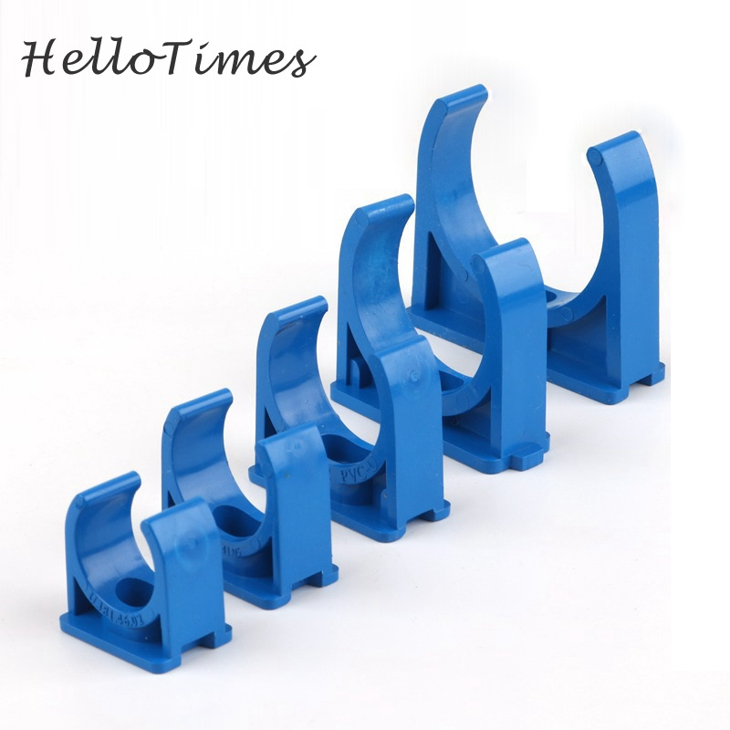 5pcs PVC20/25/32mm/40/50mm PVC Pipe Clamps Water Pipe Support PVC Pipe Connector Garden Irrigation Fittings
