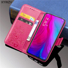 For OPPO RenO Case PU Cover Flip Wallet Phone Soft Silicone Card Holder Fundas Back Shell