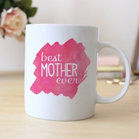 Best Mother Ever Gift Coffee Mugs Ceramic Tea Cups Home Decal Kitchen Friend Gifts Cup