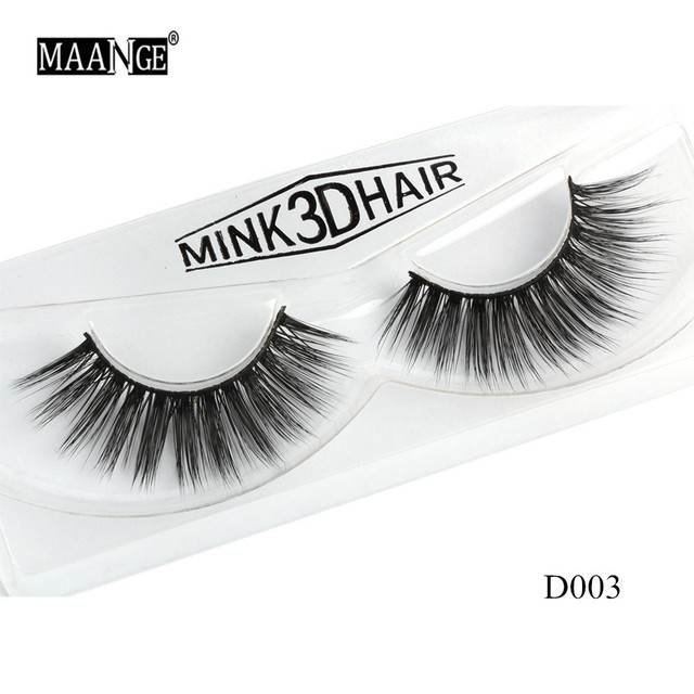 1 Pairs Mink Eyelashes Natural Long 3D Mink Lashes Hand Made False Eyelashes Full Strip Lashes Makeup False Eyelash Beauty Tool 2