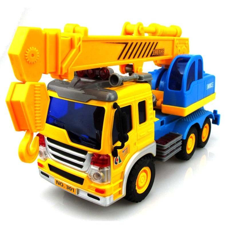 Baby Boy Toy Cars : Child large crane truck hook machine for children