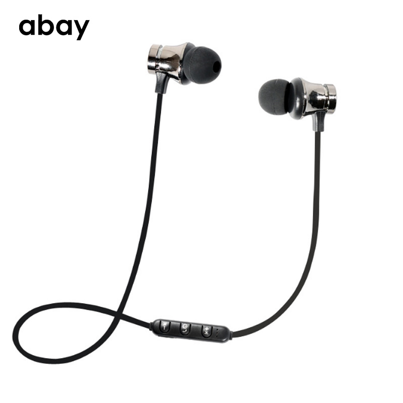 Bluetooth wireless Sports Hifi Bass Earphone with Mic Magnetic headphones bluetooth Headset eyerphone Stereo Earbuds for iphone