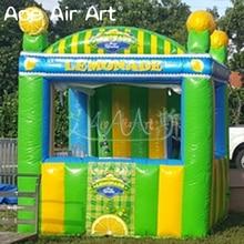 Высокое качество надувной lemon ade stand grande, лимонный сок концессионный стенд, выставочный тент для летних развлечений