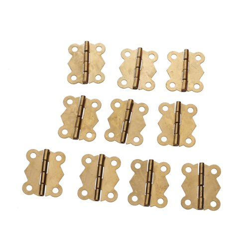10Pcs Mini Iron Butterfly Hinges Cabinet Drawer Door Butt Hinge 10pcs antique bronze cabinet hinges furniture accessories door hinges drawer jewellery box hinges for furniture hardware 36x23mm