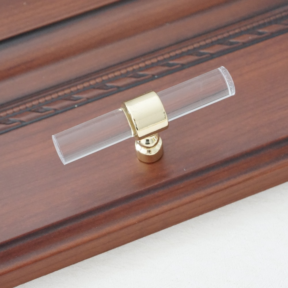 3 75 quot 5 quot 6 3 quot Dresser Pulls Drawer Handle Acrylic Clear Gold Dresser Pulls Kitchen Cabinet Door Handle Pull Knob Hardware Modern in Cabinet Pulls from Home Improvement