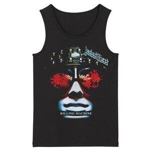 Image 1 - Bloodhoof Judas Priest Grindcore HardMetal Deathcore גברים של שחור גופיות אסיה גודל