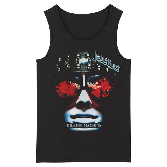 Bloodhoof Judas Priest Grindcore HardMetal Deathcore גברים של שחור גופיות אסיה גודל