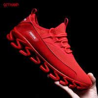Мужская повседневная обувь, дышащие кроссовки без шнуровки, размер 38-44